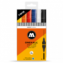 ONE4ALL™ Acrylic Twin 1,5mm/4mm 6x - Basic-Set 1 - Clearbox