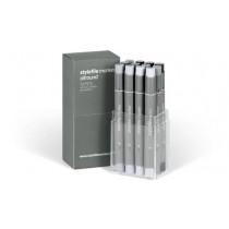 Stylefile Marker Allround 12er Set neutral grey